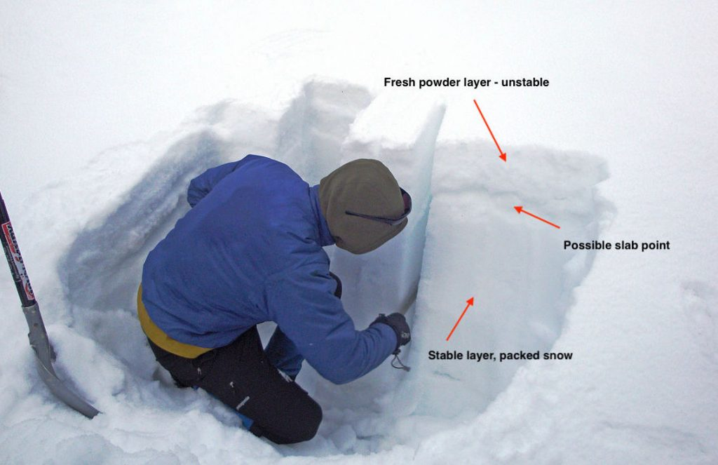 Determining snow layers